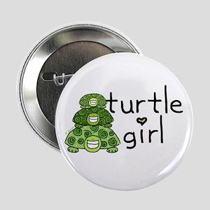 turtle girl Button