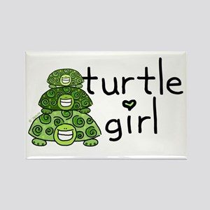 turtle girl Rectangle Magnet