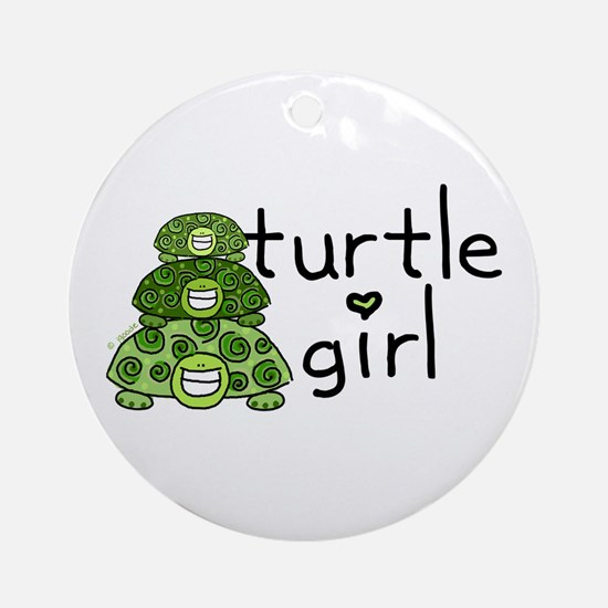 turtle girl Ornament (Round)