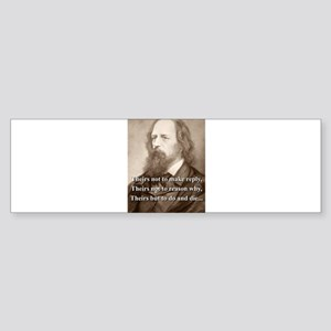 Theirs Not To Make Reply - Lord Tennyson Sticker (