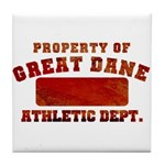 Property of Great Dane Tile Coaster