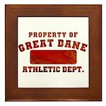 Property of Great Dane Framed Tile