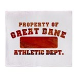 Property of Great Dane Throw Blanket