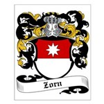 Zorn Coat of Arms Small Poster