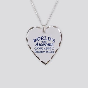 Daughter-In-Law Necklace Heart Charm