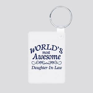 Daughter-In-Law Aluminum Photo Keychain