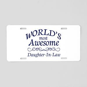 Daughter-In-Law Aluminum License Plate