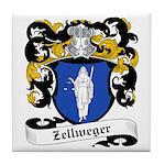 Zellweger Coat of Arms Tile Coaster