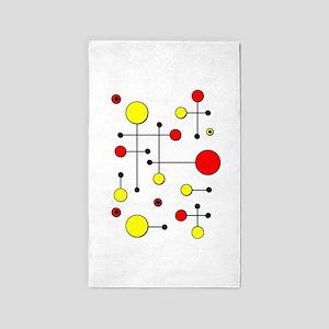 Red & Yellow Dot Dash 3'x5' Area Rug
