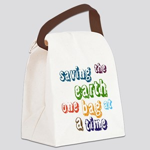Saving the Earth Canvas Lunch Bag