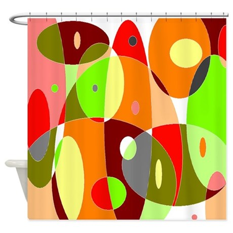 Hot Psychedelic Shower Curtain By Retro Active