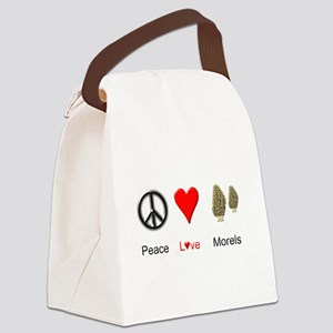Peace Love Morels Canvas Lunch Bag