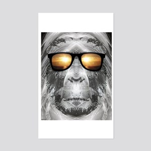 Bigfoot In Shades Sticker (Rectangle)