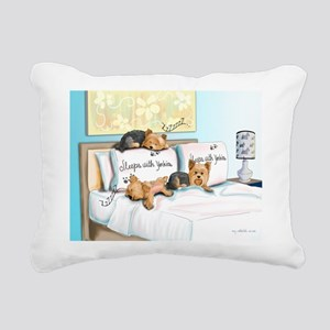 sleeps Rectangular Canvas Pillow
