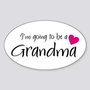 I'm going to be a Grandma! Oval Sticker