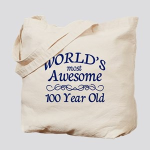 Awesome 100 Year Old Tote Bag