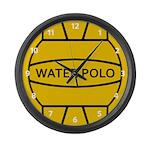 Water Polo Ball Large Wall Clock