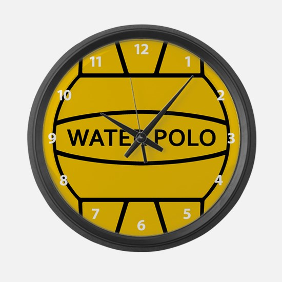 Water Polo Ball Large Wall Clock