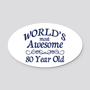 Awesome 80 Year Old Oval Car Magnet