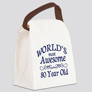 Awesome 80 Year Old Canvas Lunch Bag