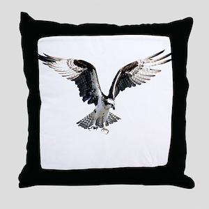 Hunting osprey Throw Pillow