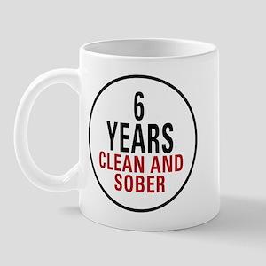6 Years Clean & Sober Mug