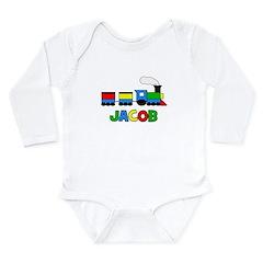 TRAIN_Jacob.png Long Sleeve Infant Bodysuit