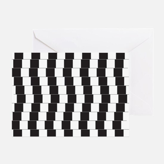 Optical illusion tilted lines Greeting Card