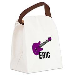 guitar_eric_purple.jpg Canvas Lunch Bag