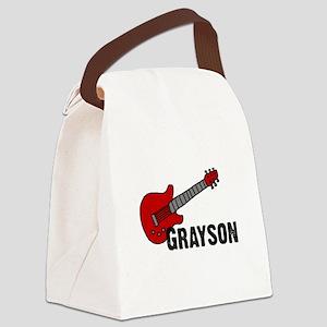 guitar_grayson Canvas Lunch Bag