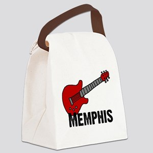 3-guitar_memphis Canvas Lunch Bag