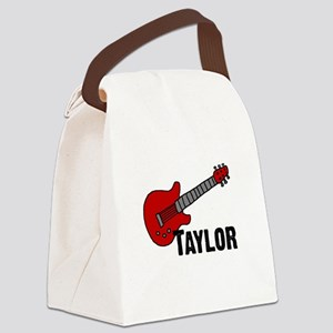 guitar_taylor Canvas Lunch Bag