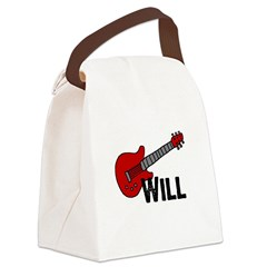 guitar_will.jpg Canvas Lunch Bag