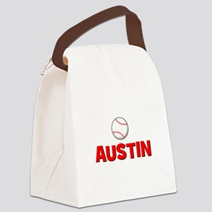 baseball_austin_TR Canvas Lunch Bag