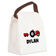 tractor_dylan.png Canvas Lunch Bag