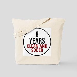 8 Years Clean & Sober Tote Bag