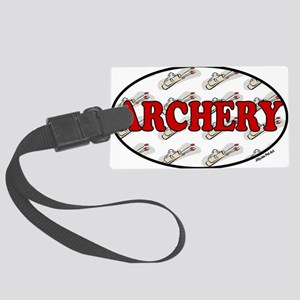 ARCHERY DK RED Large Luggage Tag