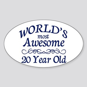 Awesome 20 Year Old Sticker (Oval)