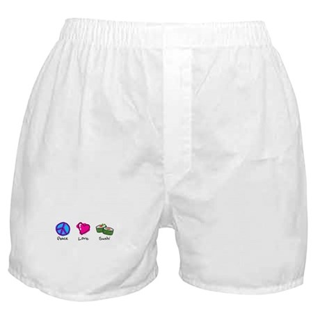 Peace, Love and sushi Boxer Shorts