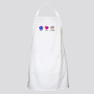 Peace, Love and cupcakes BBQ Apron