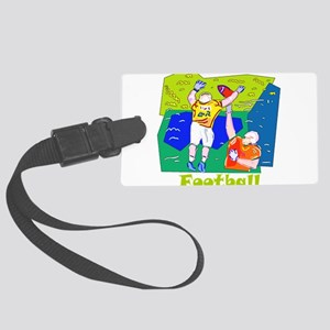 football abstract1 Large Luggage Tag