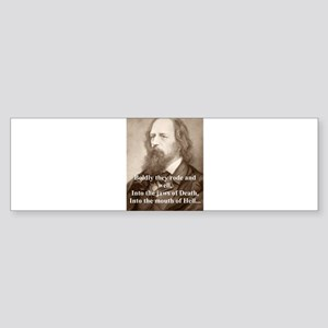 Boldly They Rode - Lord Tennyson Sticker (Bumper)