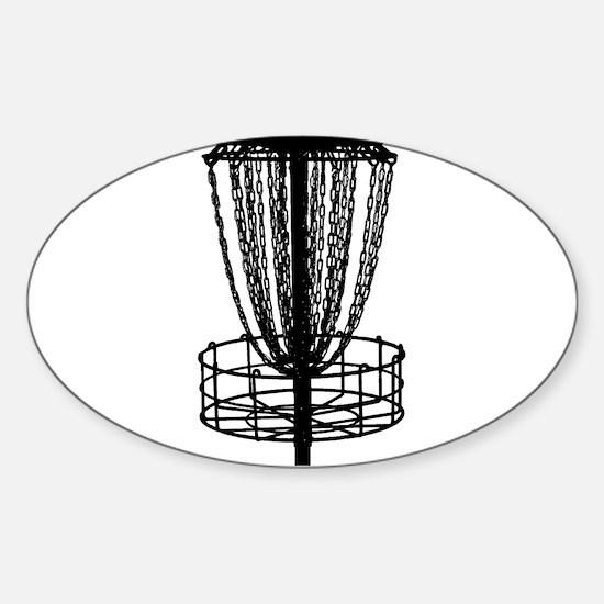Decal - Disc Golf Catcher Black Decal