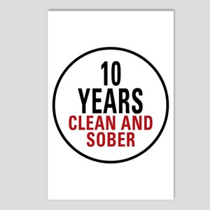 10 Years Clean & Sober Postcards (Package of 8)