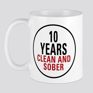 10 Years Clean & Sober Mug