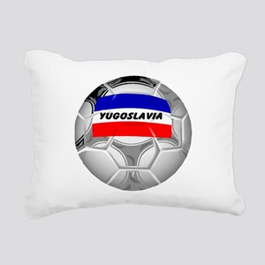 yugoslavia soccer black Rectangular Canvas Pil