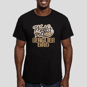 Beaglier Dog Dad Men's Fitted T-Shirt (dark)