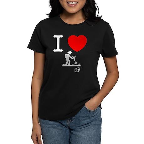 Metal Detecting Women's Dark T-Shirt