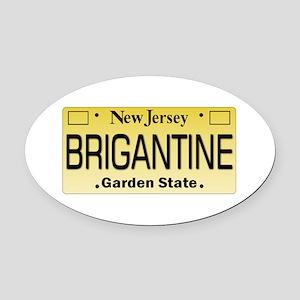 Brigantine NJ Tag Gifts Oval Car Magnet