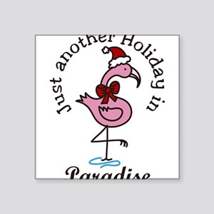 """Holiday In Paradise Square Sticker 3"""" x 3"""""""